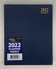 2022 Weekly Day Planner Calendar Organizer Agenda Appointment Book Blue 8x10