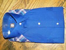 Boys Blue Karman Checkered Vintage Shirt Size 18 Long Sleeve Nwt