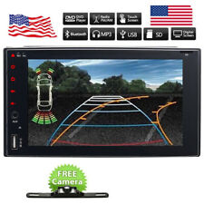 Backup Camera&Double 2*Din Car Stereo Radio CD DVD Player Bluetooth with Cam US