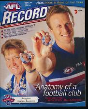 2001 AFL Football Record Richmond v Western Bulldogs April 6 - 8 Tigers