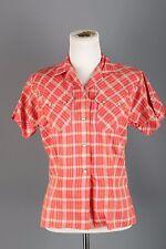 VTG 50s 60s Women's HbarC Pearl Snap Western Shirt 1950s 1960s #1494 Rockabilly