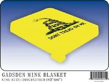 "Gadsden Tea Party Flag King/Queen Mink Throw Blanket (80"" x 96"")"