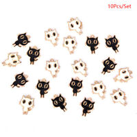 10Pcs/Set Enamel Alloy Cat Charms Pendant Jewelry Findings DIY Making Craft ZB