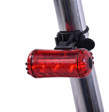QUALITY SUPER BRIGHT RED REAR 5 LED BIKE TAIL LIGHT 180 VIEW 3 MODE EASY FIT