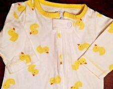 Carters-Baby Girls-Boys-Size Newborn-Yellow Rubber Ducky-Summer Sleeper Outfit