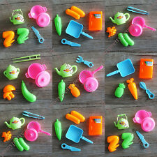 Education Mini Kitchen Cooking Pretend Play Toy Kids Utensil Playsets Party Gift