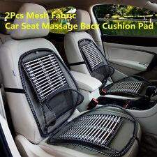 2X Car Auto Mesh Bamboo Seat Lumbar Brace Back Support Pad Waist Massage Cushion