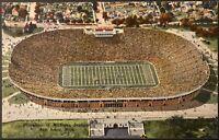 Ann Arbor MI ~ University of Michigan Stadium ~ Linen Postcard ~ Sports Stadiums