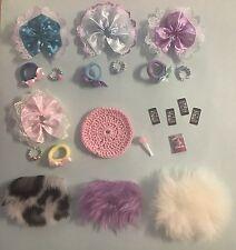 22 Piece Set Handmade Accessories For Littlest Pet Shop Skirts, Bows, Mats Etc