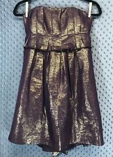 Vera Wang Dress Size 0/34 Purple Gold Strapless Cocktail Formal Party Wedding