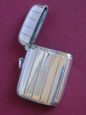 More details for 1904 antique solid sterling silver gents vesta case. birmingham horton & allday.