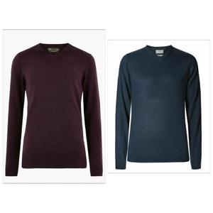 Ex Marks & Spencer Mens Cashmilon Sweater V Neck Jumper Christmas Gift New