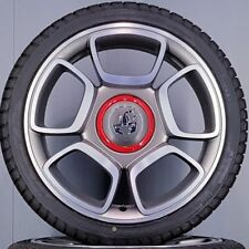 4x Original Fiat 500 Abarth 595 17 Zoll Alufelgen 51820551 51884253 NEU (7-10-R)