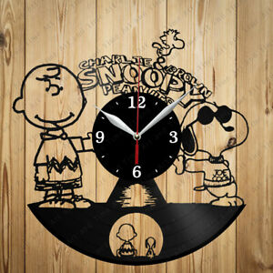 Vinyl Clock Charlie Brown and Snoopy Handmade Original Vinyl Home Art Decor 4062