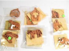 Lot Of 11 Christmas Ornaments Made In Israel From Olive Trees / Nativity - Camel