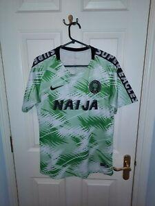 Nigeria NAIJA Football Shirt Nike Green Men's medium