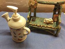 Marjolein Bastin 1999 Hallmark Ceramic Soap/Lotion Dispenser, Watering Can