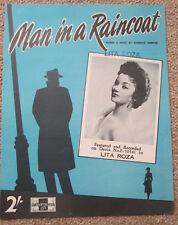 Man in a Raincoat. Lita Roza. Personally owned Sheet Music. Lita's own copy.