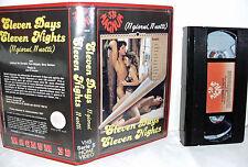 VHS - ELEVEN DAYS ELEVEN NIGHTS = 1987 = MAGNUM 3B = Ex noleggio