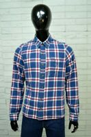 Camicia Uomo HOLLISTER Taglia S Shirt Man Cotone a Quadri Maglietta Slim Fit
