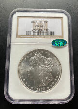 1878-CC MORGAN DOLLAR - NGC MS-64, BLAST WHITE & PREMIUM QUALITY! CAC APPROVED!