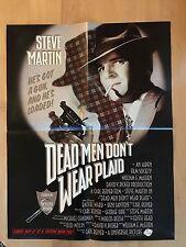 Dead Men Don't Wear Plaid Steve Martin Promo Poster Press Info 1982 - Nice