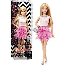 2014 BARBIE FASHSONISTA WITH WHITE AND PINK RUFFLES
