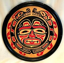 FIRST NATIONS SISIUTL Hand Painted Wood plaque Seitcher 2004 Canada