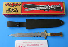 UNITED CUTLERY Japan IRON CROSS Dagger Knife UC328 - NEW Damascus Smoky Mountain