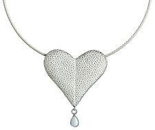 Tränendes Herz, Paul Wunderlich, Silber-Collier 925 mit Opal