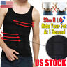 US HOT Ultra Lift Body Slimming Shaper For Men Chest Compression Shaper Vest Top