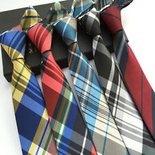 Lot 5 PCS Skinny Mens 100% Silk Tie Necktie JACQUARD Neck Ties Plaids Striped