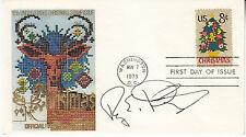 ROY E DISNEY (1930-2009) hand signed 1973 FDC - autographed (nephew of Walt )