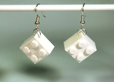 Earrings made with LEGO bricks - White