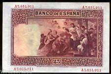 España 25 Pesetas 1926 San Francisco Javier @ Sin Circular @ Sello en seco Repub