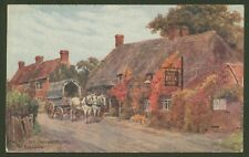 The Bell Inn, Salford Priors, Nr. Evesham - Vintage J.Salmon Oil Effect Postcard