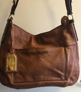 LAUREN - Ralph Lauren Soft Leather Handbag in Tan