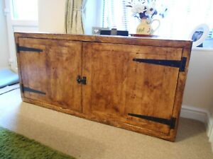 A rustic sideboard cabinet