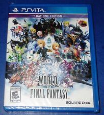 World of Final Fantasy PlayStation Vita Day One Edition - New-Sealed-Free Ship!