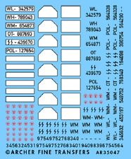 Archer AR35047 1/35 Dry Transfers of WWII German Licence Plates