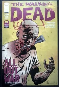 IMAGE COMICS THE WALKING DEAD #115 NYCC COVER O SIGNED BY CHARLIE ADLARD W/COA