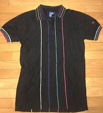 Vintage 80s Ocean Pacific Polo Shirt Vertical Stripe Unusual Med Nice