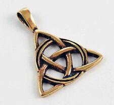 Charmed collier symbole triquetra en bronze avec cordon cuir noir pendentif neuf