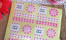 kawaii handmade adhesive stickers seal cookie pink heart candy square circle
