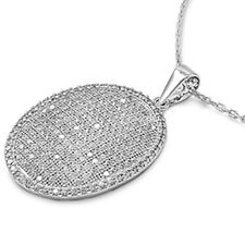 PAVE SET FINE JEWELRY! RUSSIAN CZ .925 FINE STERLING SILVER NECKLACE CHAIN
