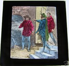 COLOUR Magic Lantern Slide THE CAPTURE OF GUY FAWKES C1900 BY JV