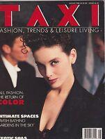 AUG 1988 TAXI vintage fashion magazine