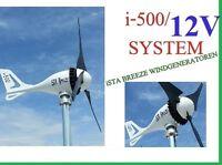 12V -500 Watt Wind Generator Turbine,  IstaBreeze i-500, WIND TURBINE, GENERATOR