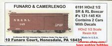 LMH Funaro F&C 6191 6192 HOn2-1/2 HOn30 SR&RL Sandy River Rangeley Boxcar 2-CARS