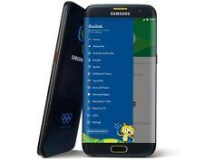 Téléphones mobiles noirs Samsung Galaxy S7 edge wi-fi